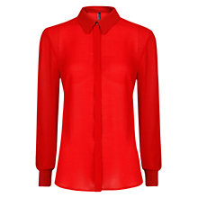 Buy Mango Long Sleeve Flowy Shirt Online at johnlewis.com