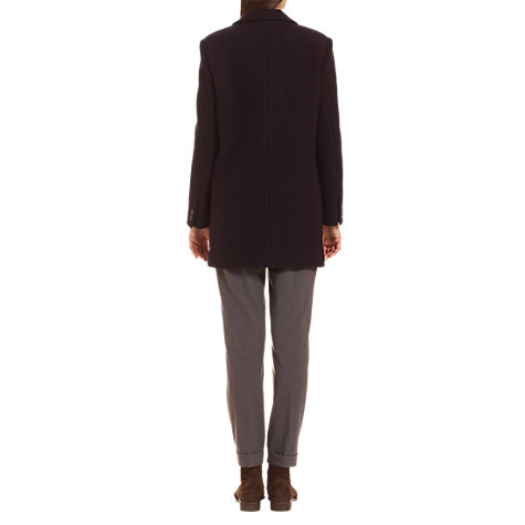 Buy Jigsaw Boucle Coat, Navy Online at johnlewis.com