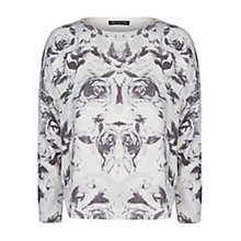 Buy Mango Rose Print Sweatshirt, Natural/White Online at johnlewis.com