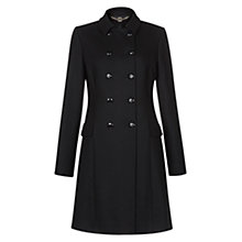 Buy Hobbs Maisie Coat, Black Online at johnlewis.com