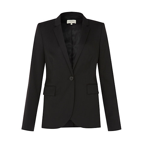 Buy Hobbs Gelsey Blazer, Black Online at johnlewis.com
