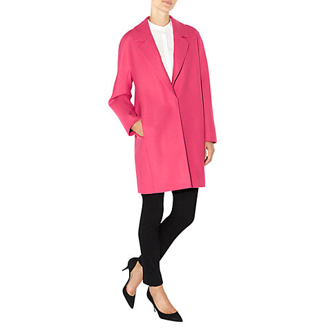 Buy Hobbs Lacey Coat, Orchid Pink Online at johnlewis.com