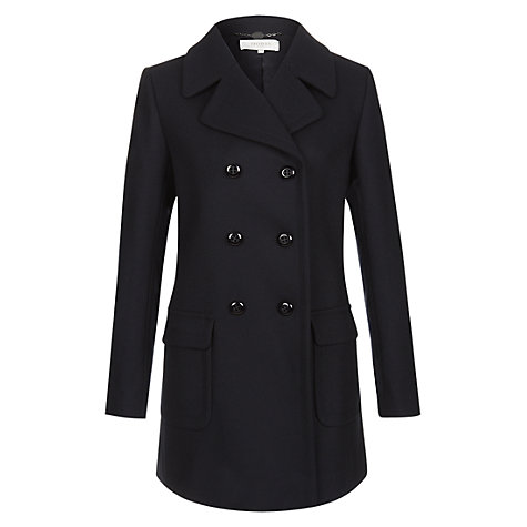 Buy Hobbs Kasia Coat, Navy Online at johnlewis.com