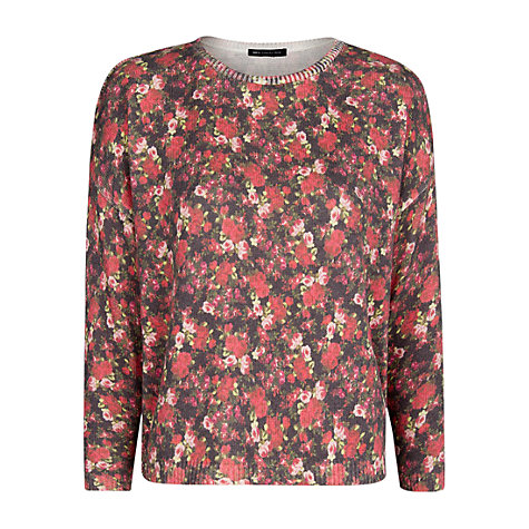 Buy Mango Floral Print Sweatshirt, Red Online at johnlewis.com