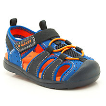Buy Clarks Beach Fun Cut-Out Sandals, Blue/Orange Online at johnlewis.com