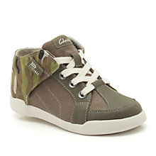 Buy Clarks Kintor Canvas Trainers, Khaki Online at johnlewis.com