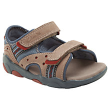 Buy Clarks BeachDug Leather Sandals, Tan Online at johnlewis.com