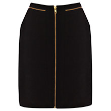 Buy Warehouse Zip Detail Skirt, Black Online at johnlewis.com