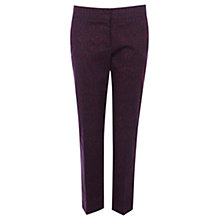 Buy Warehouse Baroque Trousers, Dark Red Online at johnlewis.com
