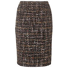 Buy Phase Eight Annaliese Tweed Skirt, Black/Brown Online at johnlewis.com