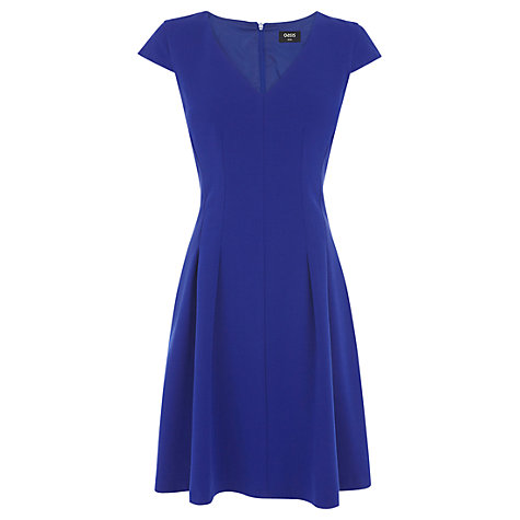 Buy Oasis Seamed Skater Dress, Rich Blue Online at johnlewis.com