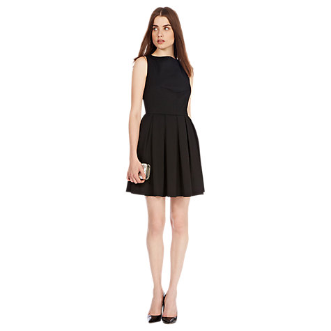 Buy Coast Lauranna Fit And Flare Dress, Black Online at johnlewis.com