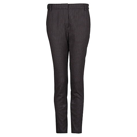 Buy Mango Pinstripe Trousers, Dark Grey Online at johnlewis.com