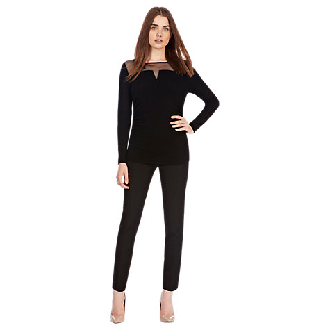 Buy Coast Dellaline Knit Top, Black Online at johnlewis.com