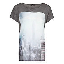 Buy Mango Printed T-shirt, Grey Online at johnlewis.com