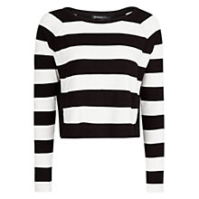 Buy Mango Contrasting Back Sweater, Black/White Online at johnlewis.com