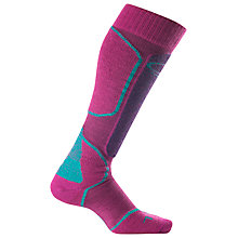 Buy Icebreaker Women's Ski+ Medium Over The Calf Socks, Magenta/Blue Online at johnlewis.com