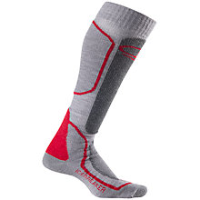 Buy Icebreaker Ski+ Medium Over The Calf Socks, Grey/Red Online at johnlewis.com