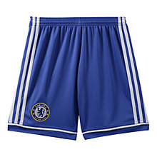 Buy Adidas Chelsea Boys Replica Home Shorts 2013/2014, Blue/White Online at johnlewis.com