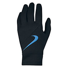 Buy Nike Manchester City Fan Gloves, Black/Blue Online at johnlewis.com