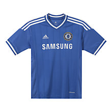 Buy Adidas Chelsea Boys Replica Home Shirt 2013/2014, Blue Online at johnlewis.com