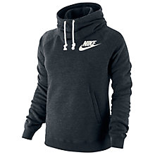 Buy Nike Rally Funnel Neck Hoodie, Black Online at johnlewis.com