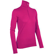 Buy Icebreaker Women's Tech Top Long Sleeve Half Zip Top, Magenta Online at johnlewis.com