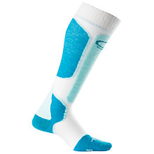 Buy Icebreaker Women's Ski+ Lite Over The Calf Socks, White/Blue Online at johnlewis.com