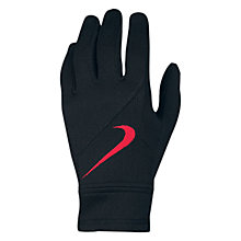 Buy Nike Manchester United Boy's Fan Gloves, Black/Red Online at johnlewis.com