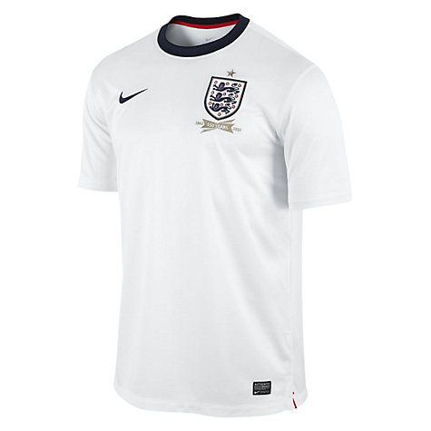 Buy Nike Junior England Replica Short Sleeve Home Shirt 2013/2014, White Online at johnlewis.com