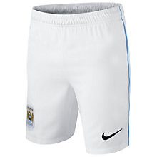 Buy Nike Junior Manchester City Replica Home Shorts 2013/2014, White Online at johnlewis.com