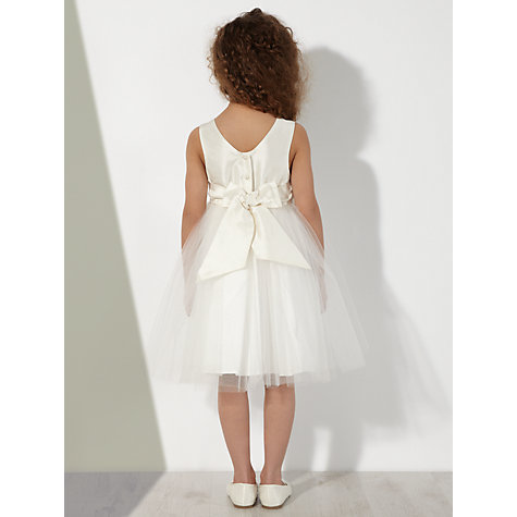 Buy John Lewis Girl Knee Length Mesh Bridesmaid Dress, Ivory Online at johnlewis.com
