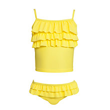 Buy John Lewis Girl Ruffle Tankini, Yellow Online at johnlewis.com