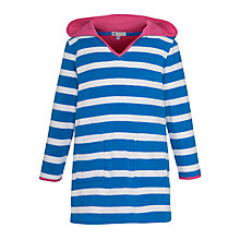 Buy John Lewis Girl Striped Towelling Dress with Hood, Blue Online at johnlewis.com