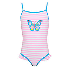 Buy John Lewis Girl Butterfly Swimsuit, Pink Online at johnlewis.com