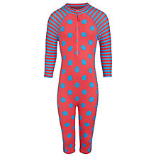 Buy John Lewis Children's Dot & Stripe Surf Suit, Red/Blue Online at johnlewis.com