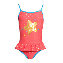 Buy John Lewis Girl Starfish Swimsuit, Coral Online at johnlewis.com