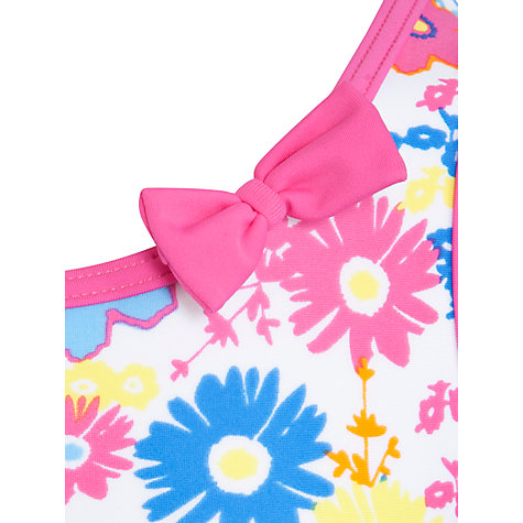 Buy John Lewis Girl Floral Swimsuit, Multi Online at johnlewis.com