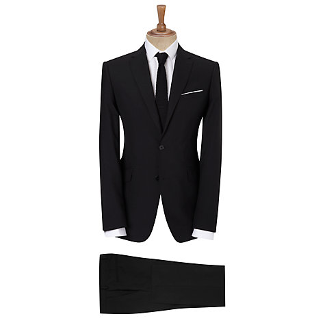 Buy Kin by John Lewis Slim Fit Bale Plainweave Suit Trousers, Black Online at johnlewis.com