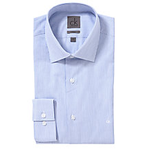 Buy CK Calvin Klein Fine Stripe Shirt, Light Blue Online at johnlewis.com