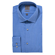 Buy CK Calvin Klein End on End Weave Shirt, Blue Online at johnlewis.com