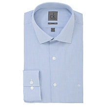 Buy CK Calvin Klein Fitted Micro Check Long Sleeve Shirt, Light Blue Online at johnlewis.com