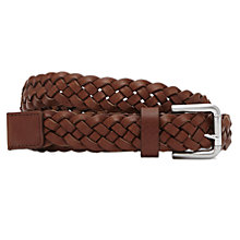 Buy Reiss Marvin Lattice Weave Leather Belt Online at johnlewis.com