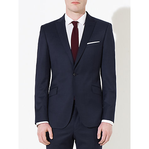 Buy Kin by John Lewis Otto Fine Pindot Peak Lapel Suit Jacket, Navy Online at johnlewis.com