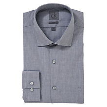 Buy CK Calvin Klein End on End Weave Long Sleeve Shirt, Grey Online at johnlewis.com