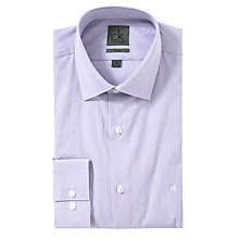 Buy CK Calvin Klein Fitted Micro Check Long Sleeve Shirt, Purple Online at johnlewis.com