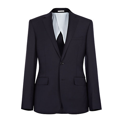 Buy Reiss Fairline Brushed Herringbone Blazer, Navy Online at johnlewis.com