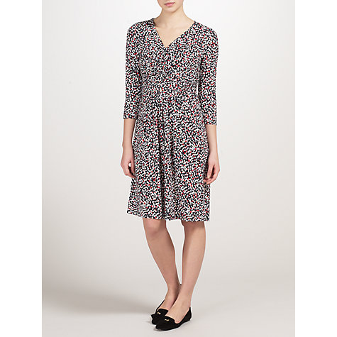 Buy John Lewis Capsule Collection Floral Twist Front Jersey Dress, Multi Online at johnlewis.com