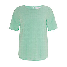 Buy Collection WEEKEND by John Lewis Floral Embroidered Top, Aqua Online at johnlewis.com