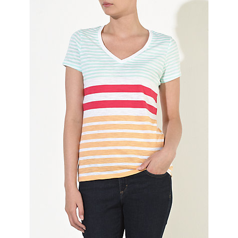 Buy Collection WEEKEND by John Lewis V-Neck Slub Striped T-Shirt Online at johnlewis.com